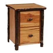 Fireside Lodge Hickory 2-Drawer File Cabinet; Traditional