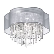 Radionic Hi Tech Illusion 3-Light Flush Mount; Silver