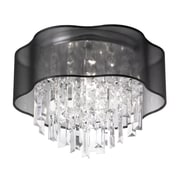 Radionic Hi Tech Illusion 3-Light Flush Mount; Black