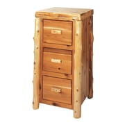 Fireside Lodge Traditional Cedar Log 3-Drawer File Cabinet