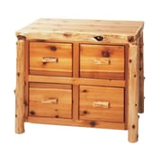 Fireside Lodge Traditional Cedar Log 4-Drawer File Cabinet