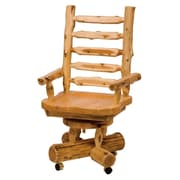 Fireside Lodge Traditional Cedar Log Bankers Chair