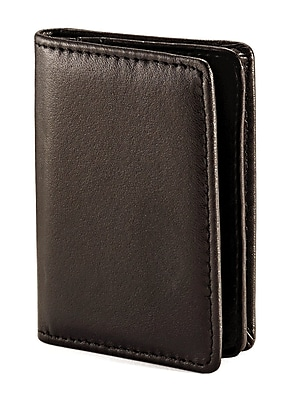 Samsonite Leather Business Card Holder, Black, 4 1/16