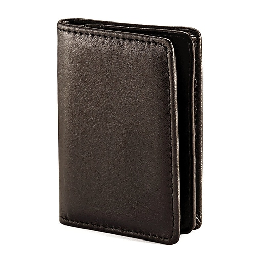 Samsonite leather business card holder black 4 116 x 3 x 12 httpsstaples 3ps7is reheart Images