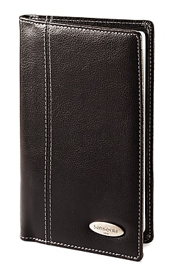 Samsonite Vinyl Business Card Case, Black, 7 7/8
