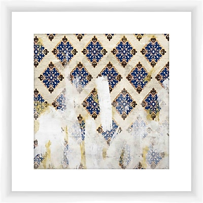 PTM Images Painters Pattern Framed Graphic Art in Blue