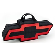 Go Boxes Bowtie Shaped Canvas Bag; Black with A Red Border