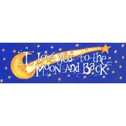 LPGGreetings Life Lines I Love You To The Moon by Lori Voskuil-Dutter Graphic Art Plaque