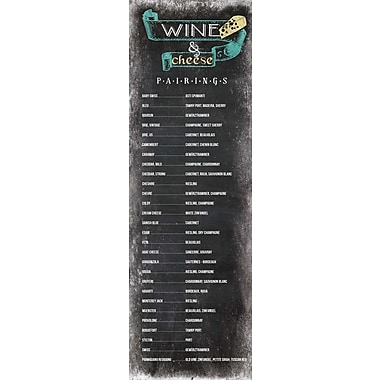 LPGGreetings Life Lines Wine & Cheese Pairings Chalkboard by Sara Otto Textual Art Plaque