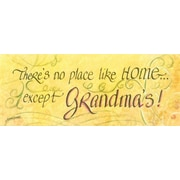 LPGGreetings Life Lines There's No Place Like Grandma's by Lori Voskuil-Dutter Textual Art Plaque