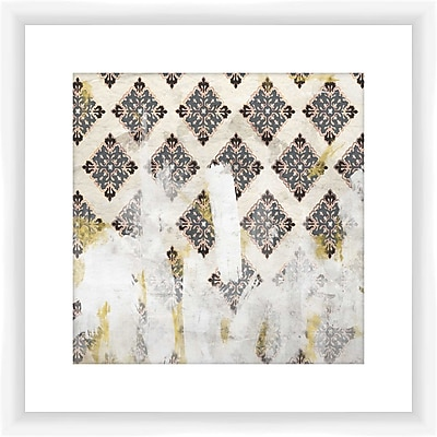 PTM Images Painters Pattern Framed Graphic Art in Gray