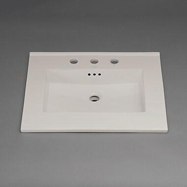 Ronbow Larisa Widespread Ceramic SinktopSelf Rimming Bathroom Sink 8''