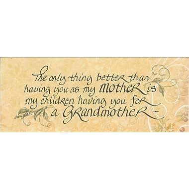 LPGGreetings Life Lines The Only Thing Better .Grandma by Lori Voskuil-Dutter Textual Art Plaque