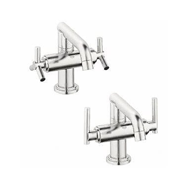 Grohe Atrio Single Hole Bathroom Faucet, Less Handles; Brushed Nickel