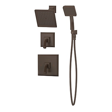Symmons Oxford Pressure Balance Shower and Hand Shower w/ Lever Handle; Oil Rubbed Bronze