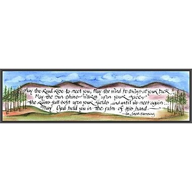 LPGGreetings Life Lines May The Road Rise by Lori Voskuil-Dutter Framed Graphic Art