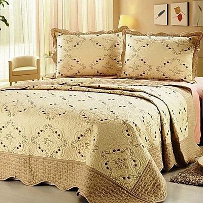 Home Sensation 3 Piece Reversible Quilt Set; Full / Queen