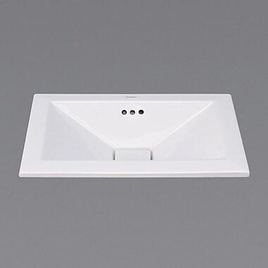 Ronbow Pyramid Ceramic Rectangular Drop-In Bathroom Sink w/ Overflow
