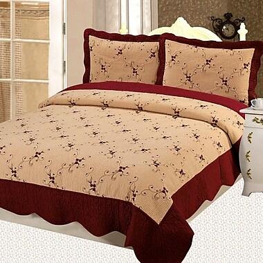 Home Sensation Napoles Premium 3 Piece Reversible Quilt Set; King