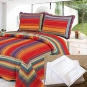 Home Sensation 7 Piece Reversible Quilt Set; King