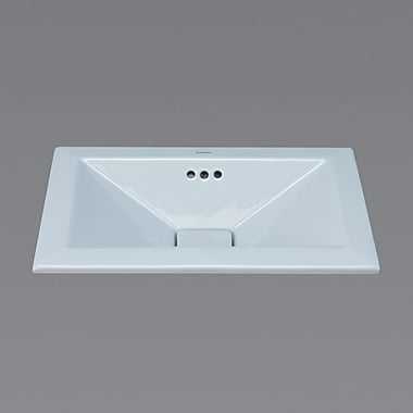 Ronbow Ceramic Rectangular Drop-In Bathroom Sink w/ Overflow