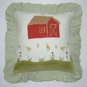 Brandee Danielle Appletree Farm Barn Decorator Throw Pillow
