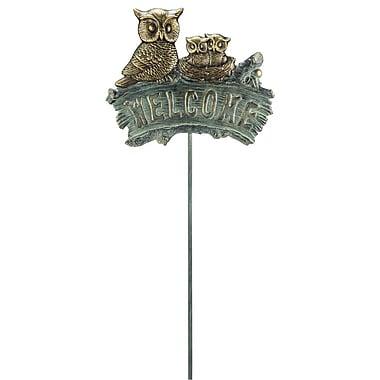Wildon Home Owl Family Welcome Garden Sign