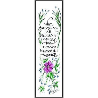 LPGGreetings Life Lines When You Love Someone by Lori Voskuil-Dutter Framed Graphic Art