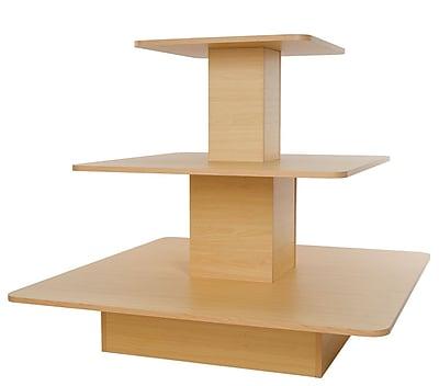 Econoco WD3SQMP 3-Tier Melamine Square Table