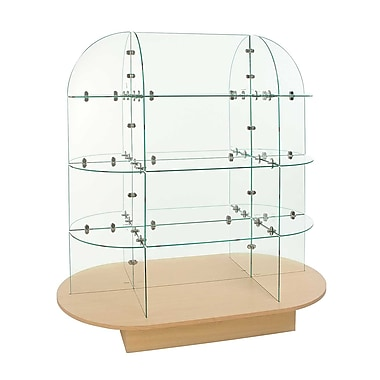 Econoco WDGLOVMP Glass Merchandiser with Oval bas