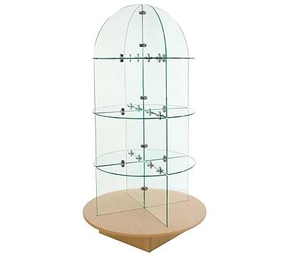 Econoco WDGLRDMP Glass Merchandiser with Round base