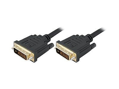 AddOn 6' Male to Male DVI-D Dual Link Cable, Black