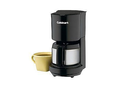 Cuisinart® 4 Cup Coffeemaker With Stainless Steel Carafe, Black
