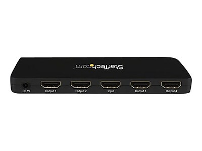 StarTech 4-Port HDMI 4K Video Splitter With Solid Aluminum Housing-4K 30Hz, Black