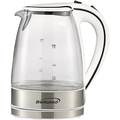 Brentwood Glass Electric Kettle; 1.7 Liter