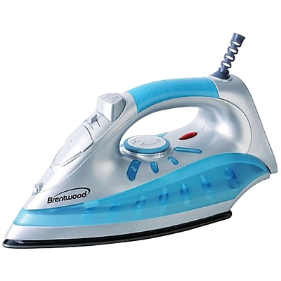 Brentwood Nonstick Steam/dry; Spray Iron With Silver Finish