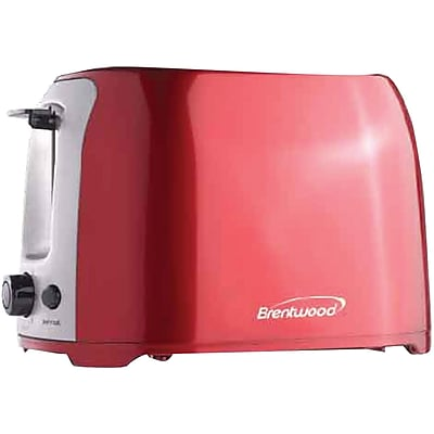 Brentwood 2-slice Cool Touch Toaster (red & Stainless Steel)
