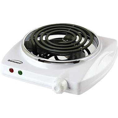 Brentwood – Brûleur électrique simple, blanc (BTWTS322)