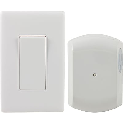 GE Wall-switch Light Control Remote With 1 Outlet Receiver