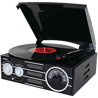 Jensen 3-Speed Stereo Turntable with AM/FM Stereo Radio (JENJTA300)