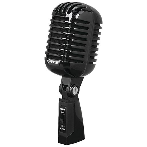 Pyle Classic Retro Vintage-style Dynamic Vocal Microphone (black)