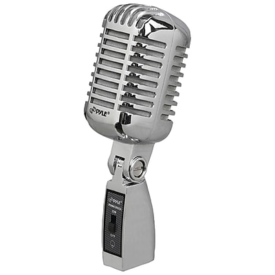 Pyle Classic Retro Vintage-style Dynamic Vocal Microphone (silver)