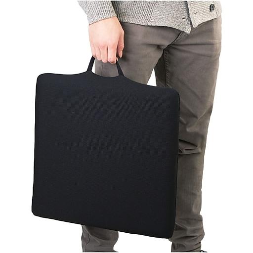 Wagan   RelaxFusion  Standard Memory Foam and Gel Seat Cushion, Black (9111)