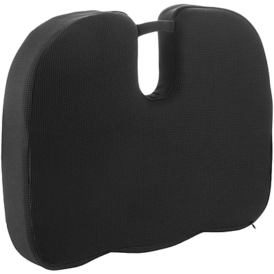 Wagan RelaxFusion Coccyx Memory Foam and Gel Seat Cushion, Black (9113)