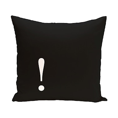 E By Design Exclaim Corner Throw Pillow; 26'' H x 26'' W x 2'' D