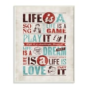Stupell Industries Life Is a Song Inspirational Textual Art Wall Plaque