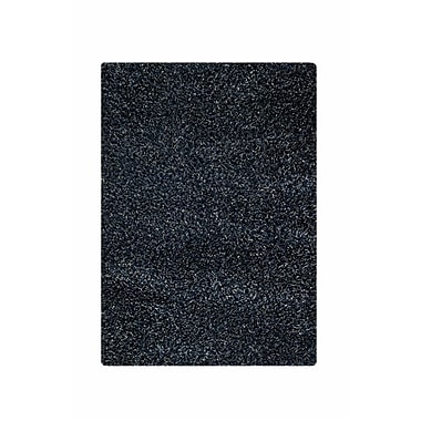 Hokku Designs Hirsute Black Solid Area Rug; 5'2'' x 7'6''