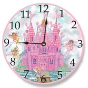Stupell Industries 12'' Pink Castle Vanity Clock