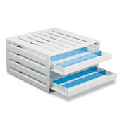 TrippNT Refrigerator Box Tray w/ Dividers; Blue