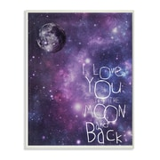Stupell Industries I Love You to the Moon and Back Outer Space Textual Art Wall Plaque